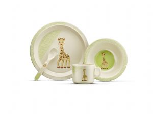 So Pure Sophie la girafe Bamboo Meal Set